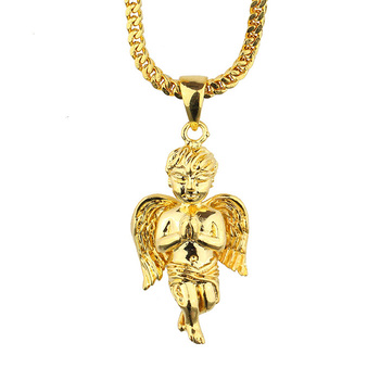 Wholesale Price 14k Gold Jewelry Gold Wing Angel Men Necklace Pendant