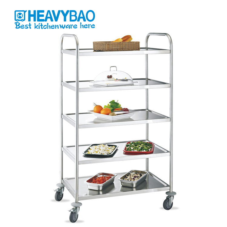 Heavybao Stainless Steel Hotel Service Dining Room Food Trolley Cart