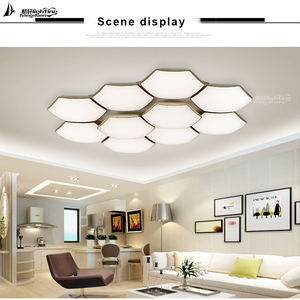Acrylic modern square indoor dinning room led mount ceiling lighting for hotel