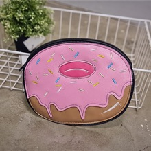American fashion funny clutch lovely donut shaped creative handbag Women HandBag Women High Quality Cute Clutches Donuts handbag