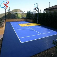 PP Interlocking Flooring For Outdoor Basketball/Badminton/Volleyball Court