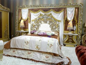 Aas50000-royal Möbel Antik Gold Schlafzimmer Setzt Holz Geschnitzte  Kopfteil Luxusmöbel Kingsize-bett - Buy Luxus-möbel Kingsize-bett,Holz  Geschnitzt ...