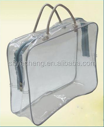 hot sale 100% oxo boidegradable transparent clear customized plastic blanket bag bedding pvc bag
