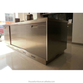 Moderne Modulare Edelstahl Küche Insel/Outdoor Metall Schränke/Bbq