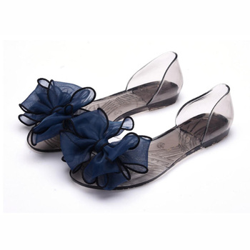 8afc2519104ee 2018 Fashion European Design Ladies Jelly Shoes Cheap PVC Shoe Flat Sandals  for Women