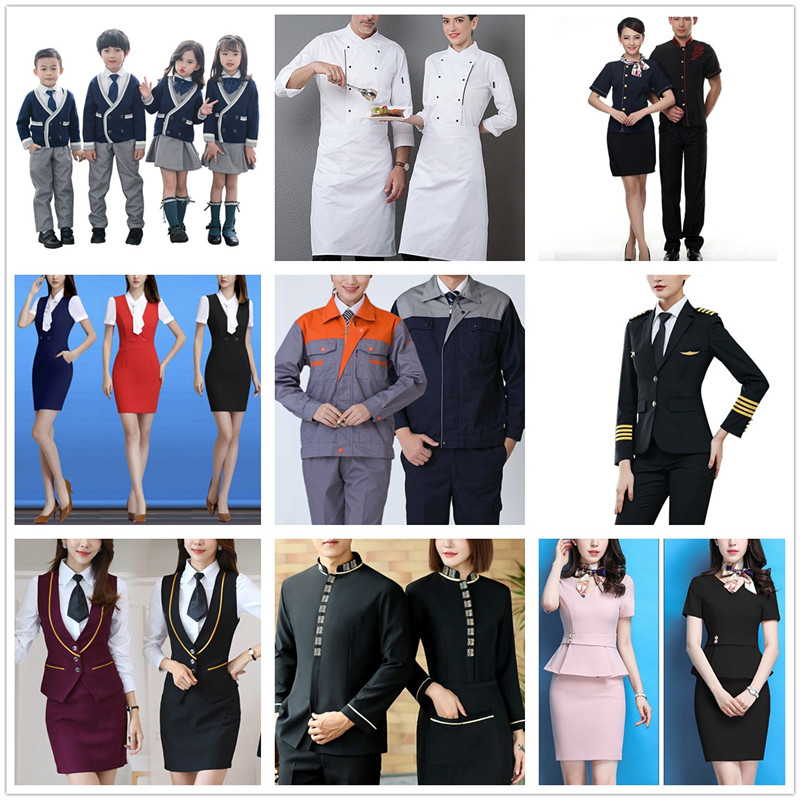 Wholesale fashion uniform custom work clothes for women