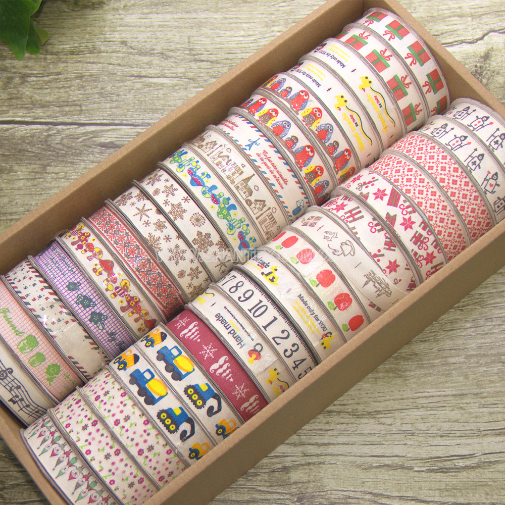 Personalized Print custom cotton ribbon for garment accessories