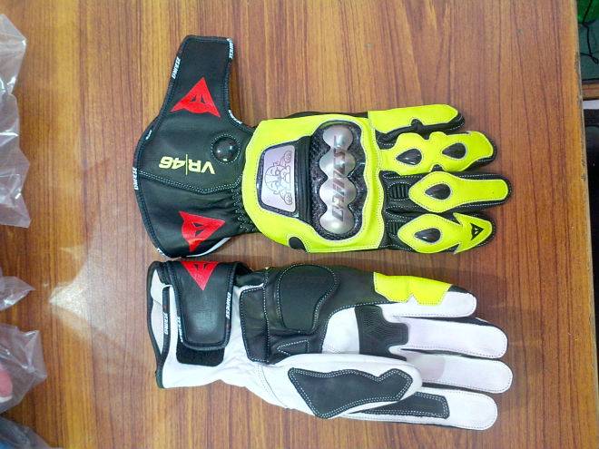 Rossi Test leather gloves