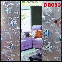 Top quality DEREK new privacy 3d window decals decorative frosted stained glass window film