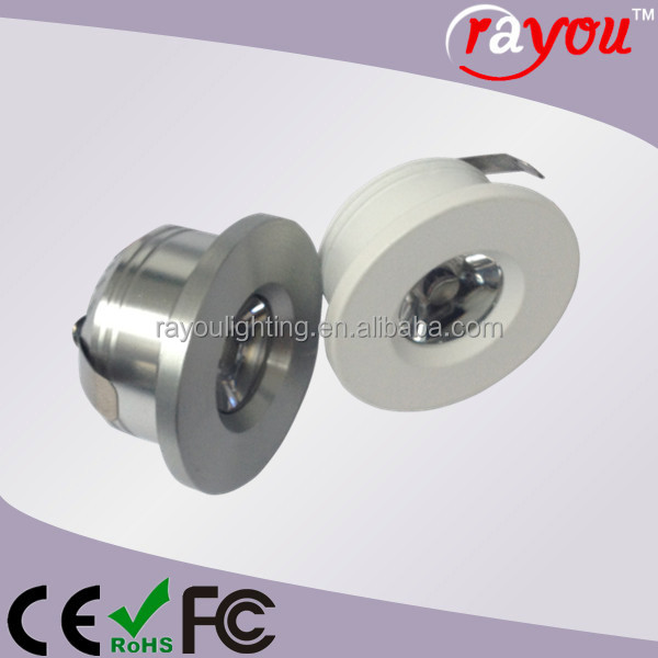 Green led 1w spotlight, dimmable 1w mini ceiling lamp, 1W ceiling spotlight for interior