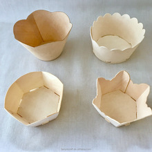 Wooden Baking Moulds For Bake Cupcake,100%Poplar & Natural