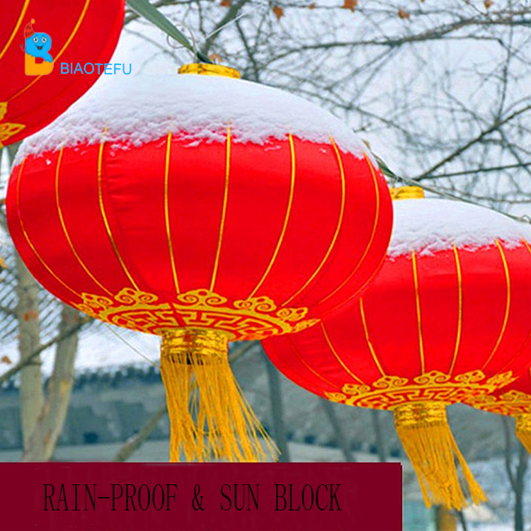 Chinese hanging silk red latern for Spring Festival