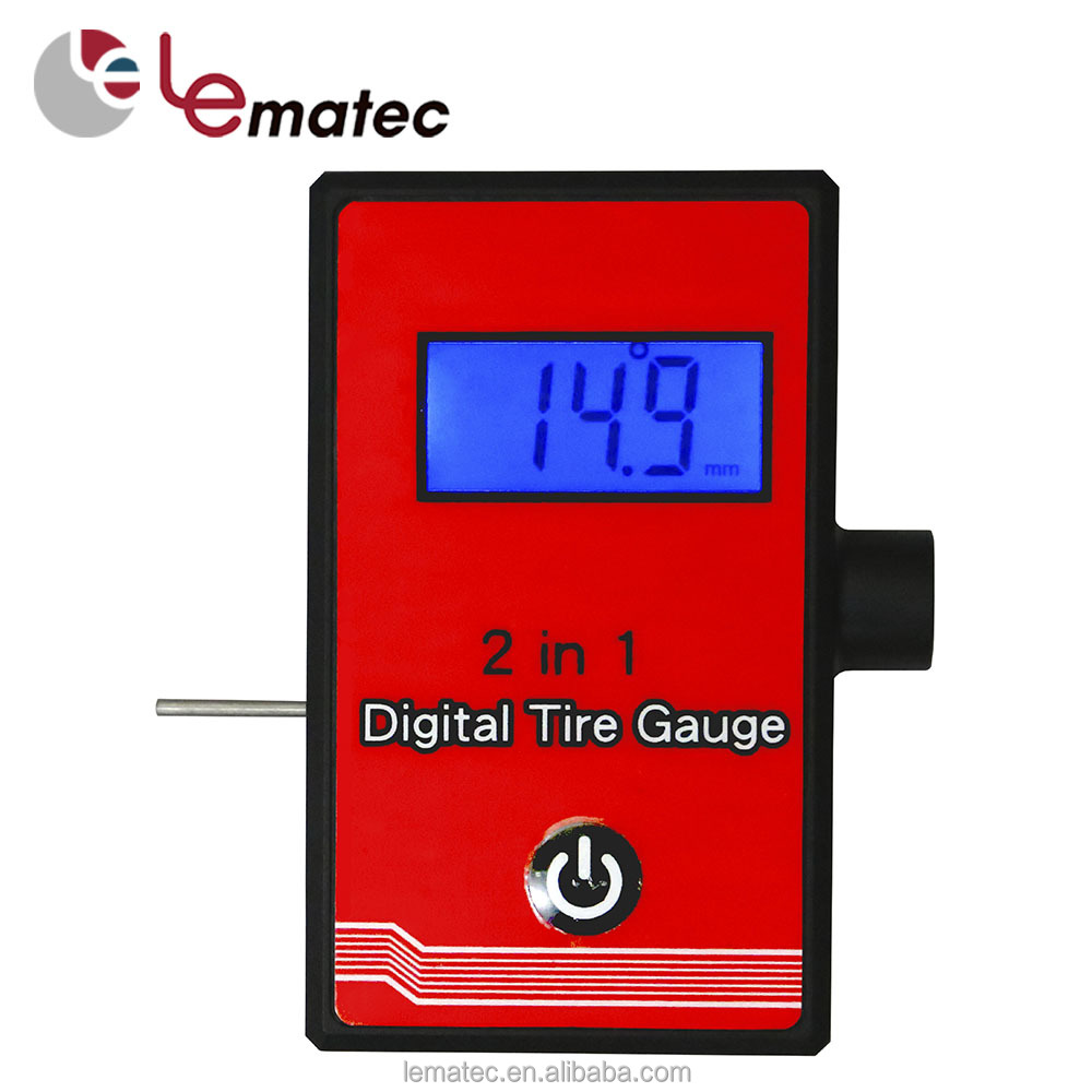 Electronic 150 PSI 2 in 1 Digital Tyre Pressure Gauge With Testing Tire Tread Depth Gauge