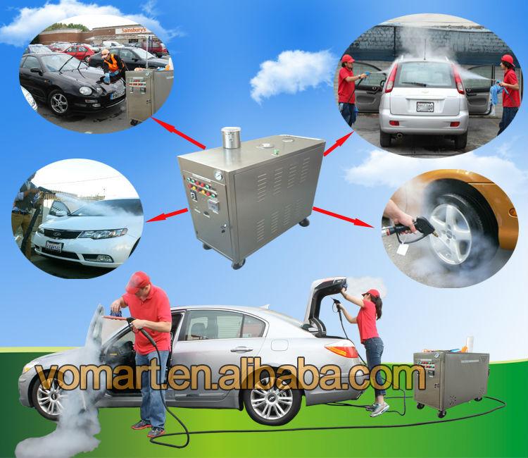 Mobile Steam Car Washing Machine Car Washer Gas Powered
