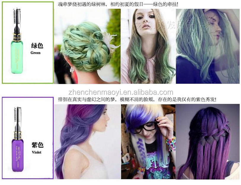 Wholesale Natural Temporary Hair Color Mascara The Black Magic Combs Hair Dye For Colorful Hair