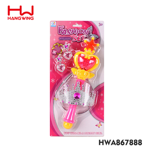 Pink Girls Plastic Musical Magic Wand Toy