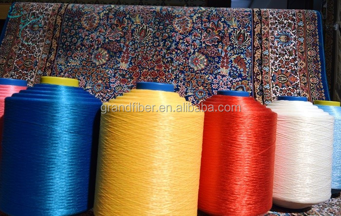 high elastic 1200D FDY polyester material carpet rug blanket yarn