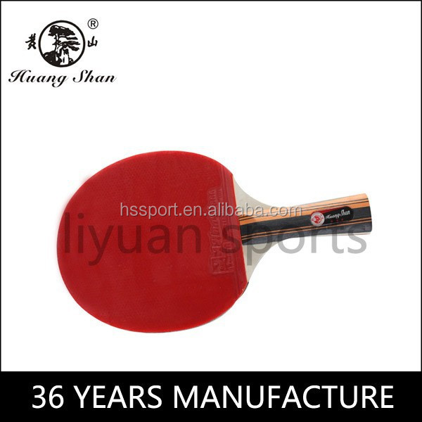 Custom wood carbon standard size training ping pong paddle 3 star table tennis racket