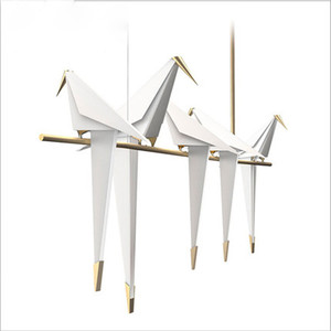 Brief fashionable style cute Paper Crane Chandelier for hallways and high ceilings