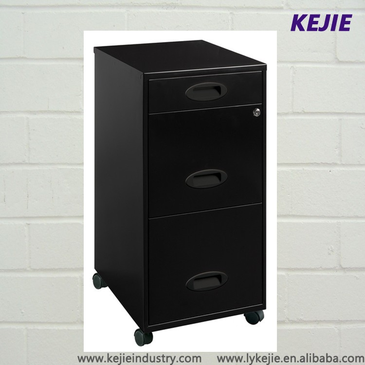 England Type Office Used Small 3 Drawer Metal File Cabinet Desk ...