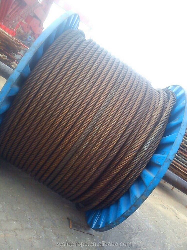 6*15+7FC High Quality Linear Contact Steel Wire Rope Price