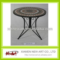 Garden metal tile round table top