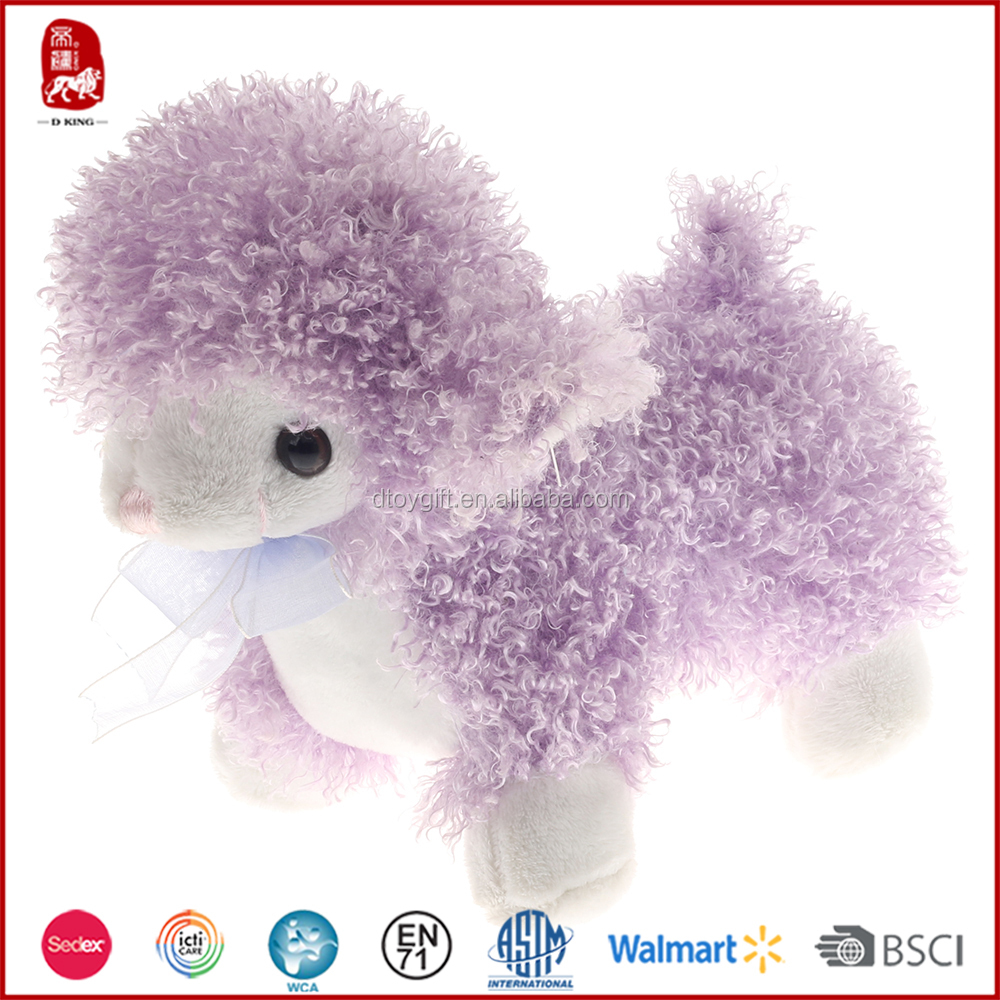 Stuffed animal purple plush sheep toy OEM