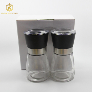 High quality airtight spice glass grinders jars