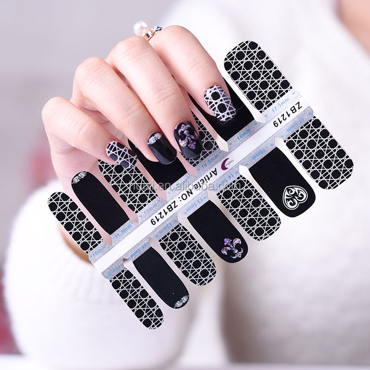 Factory Price High Quality Fashionable Halloween Printing Nail Art sticker, Nail Decal Supplier