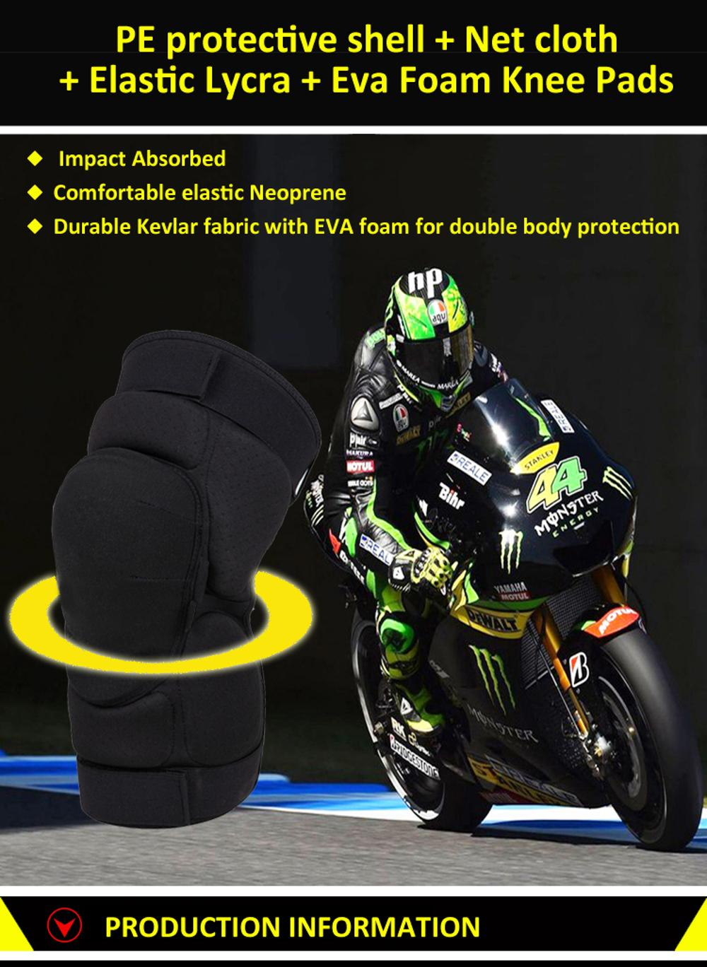 Best Selling Aramid Fiber Knee Pads Motorcycle Bicycle Safety Equipment 4