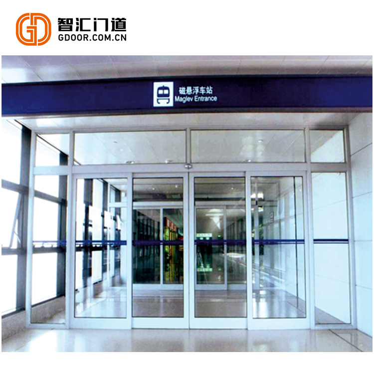 GS-601 High Quality Train Station Automatic Glass Sliding Door With Break Out Function
