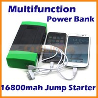 16800mah Multi-Function Car Battery Charger Portable Mini Jump Starter Phone Power Bank Laptop External Rechargeable Battery
