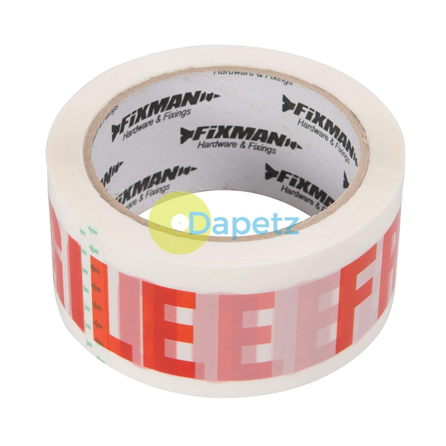 Dapetz /® Packing Tape Handle with Care 48mm X 66M Biaxially-Oriented Polypropylene Film