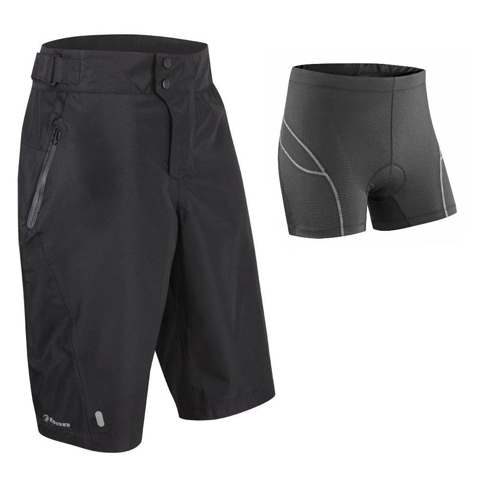Tenn Mens Protean MTB Cycling Shorts + Padded Boxers Combo