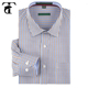 Stylish Mens Slim Fit Cotton Small-Scale Gingham Check Dress Shirts For Men