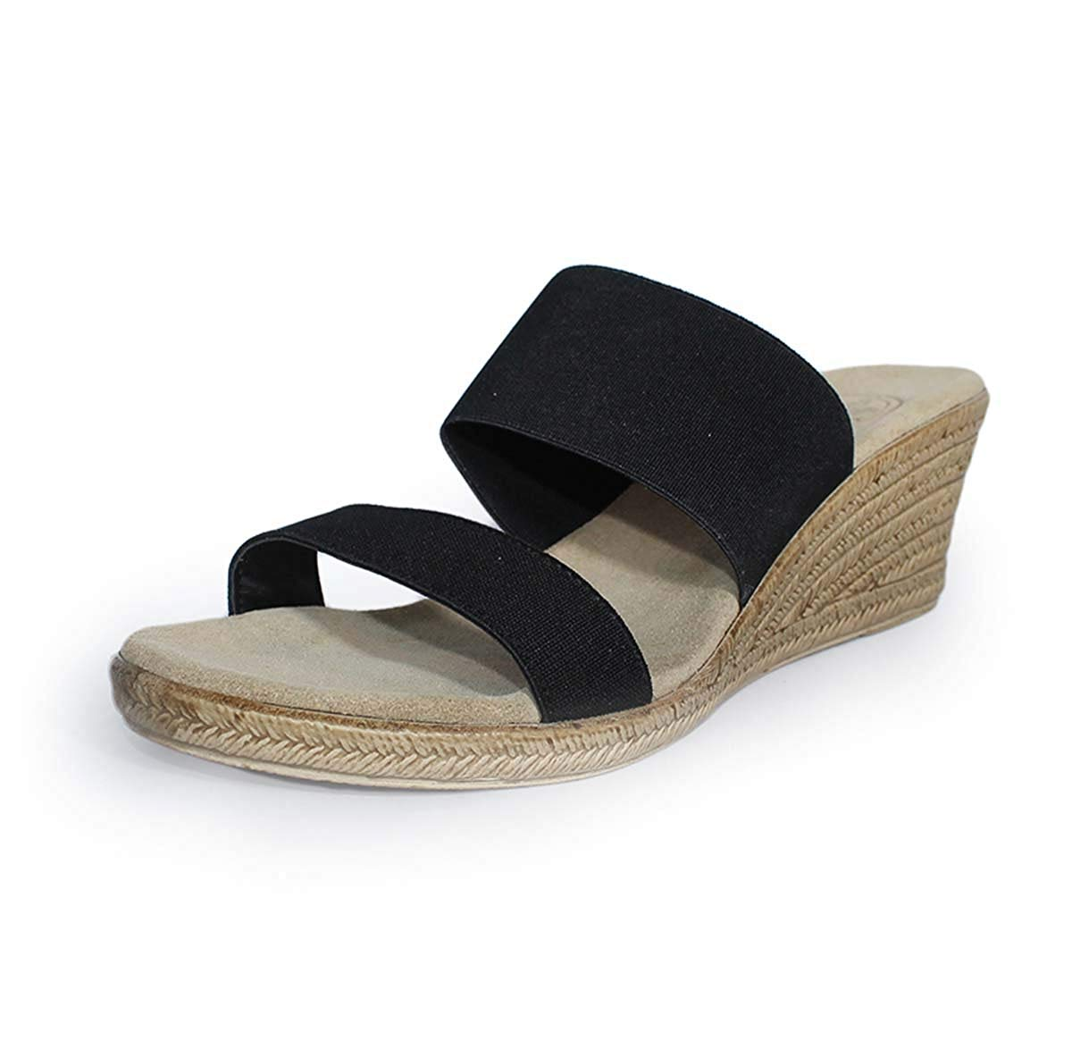 b95ec6e384e Get Quotations · Backless Cooper Espadrille Wedge Sandal by Charleston Shoe  Co.