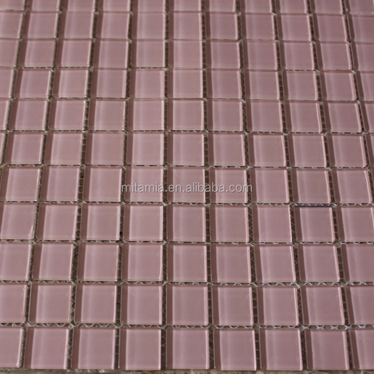 pink interior crystal glass mosaic cheap wall tiles buy