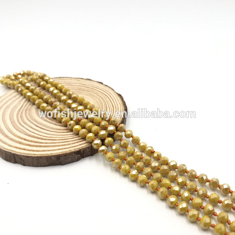 Wofish jewelry Vintage elegance Millet bead seed beads natura stone bead beaded necklace