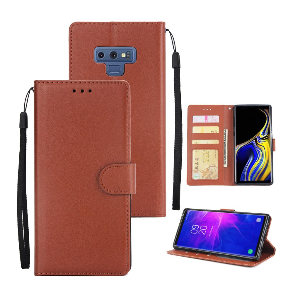 Black ProCase Galaxy S8 Genuine Leather Case Vintage Wallet Folding Flip Case with Kickstand and Multiple Card Slots Magnetic Closure Protective Cover for Samsung Galaxy S8