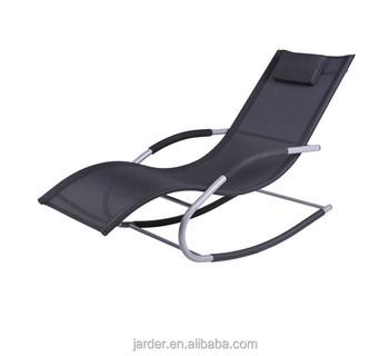 PVC mesh fabric Ningbo wholesale retailer steel modern outdoor garden rocking chair