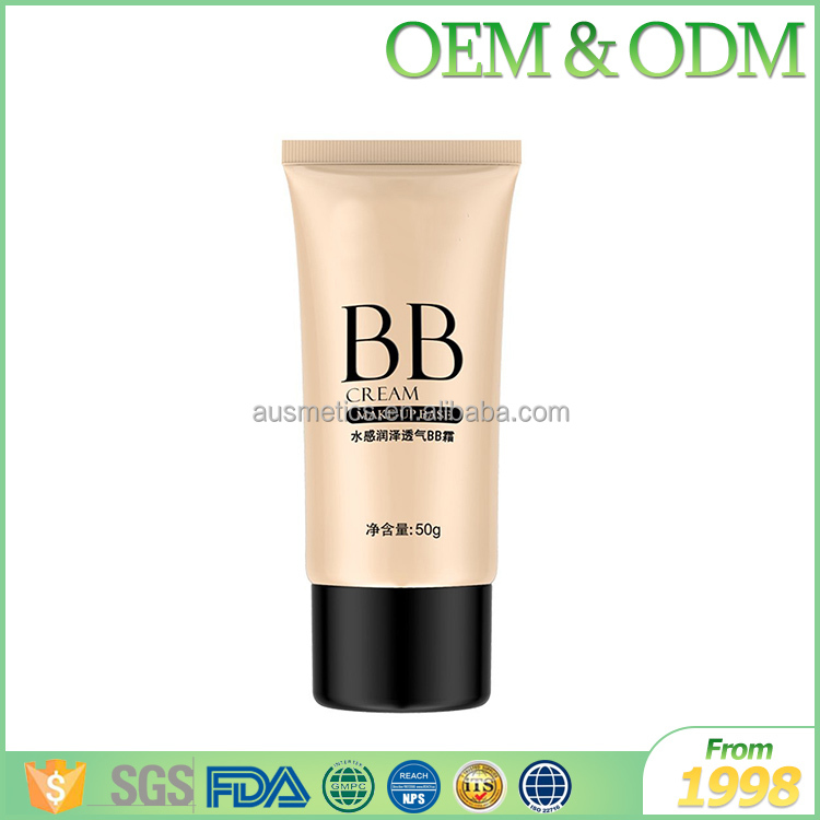 OEM cosmetic factory from 1998 face cream & lotion make-up base bb cream waterproof bb cream