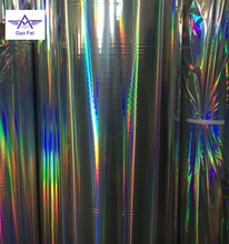 seamless type plain pure holographic film for paper thermal lamination