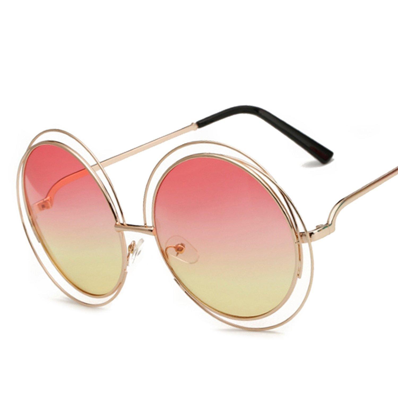 b13288c76728 Get Quotations · New round Wires Frames Sunglasses women Eyewear shadows  oversized eye Glasses oculos de sol