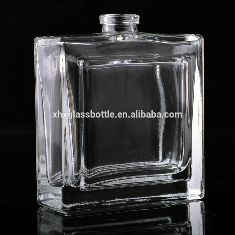 nouvelle mesure 50 ml carr de parfum en verre bouteille vide parfum cologne bouteille pour. Black Bedroom Furniture Sets. Home Design Ideas