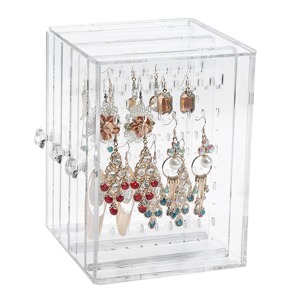 Get Quotations Jewelry Hanger Organizer Aiyoo Acrylic Earring Display Stand Studs Bracelet Necklace Holder