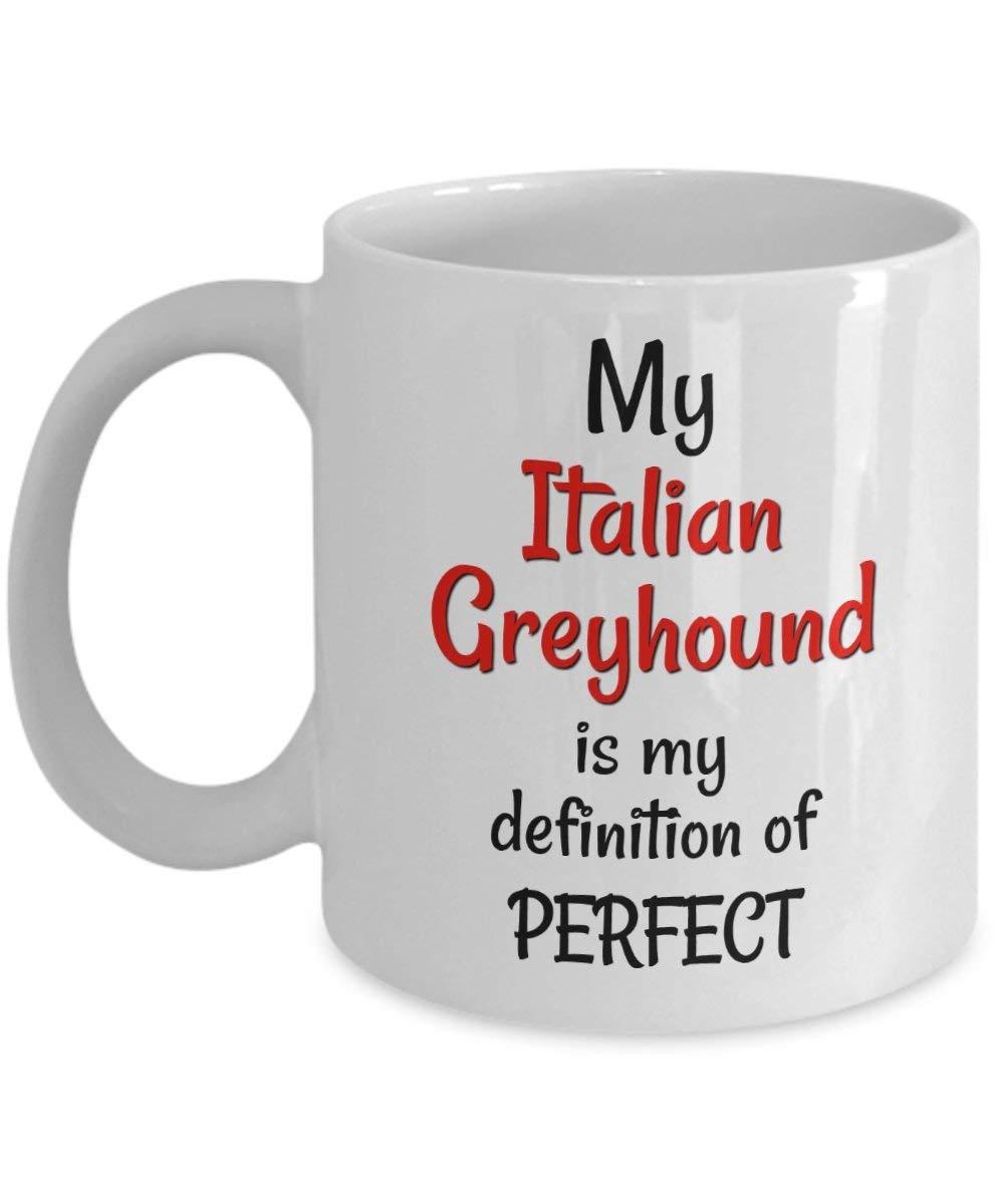 Italian Greyhound Coffee Mug Gifts - Italian Greyhound Mom Dad Stocking Stuffer for Women Men Friend Coworker - 11 oz Cup Dog Lover Gift