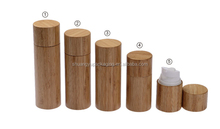 wooden packaging cosmetic spray bottles airless cosmetic bottles 50ml