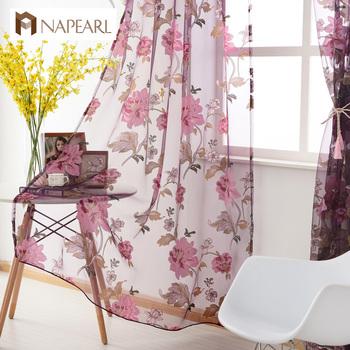 Napearl Floral Tulle Rideaux Design Moderne Tissus Transparents