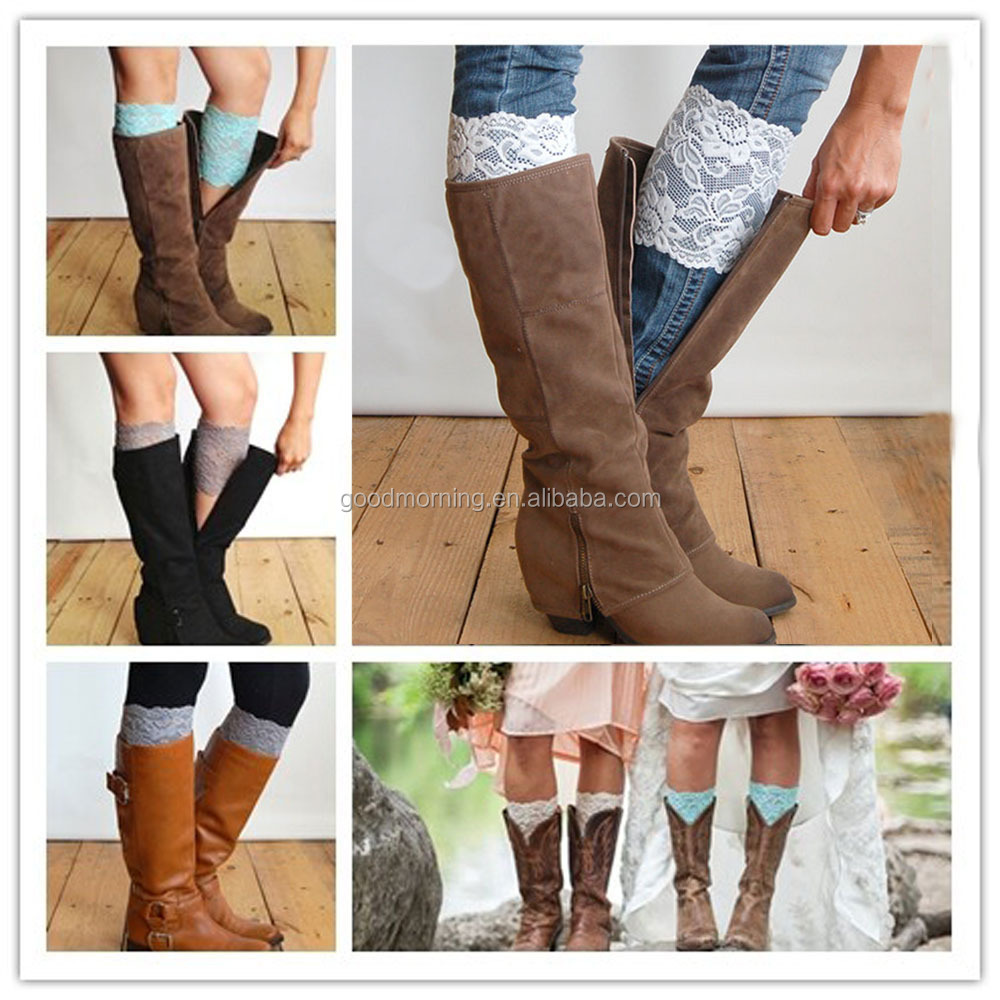 Lace Top Boot Socks, Lace Top Boot Socks Suppliers and Manufacturers at  Alibaba.com