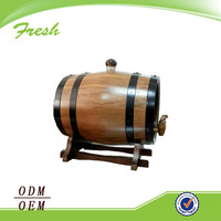 Custom Decoration 3L Oak Casks Red Wine Barrel Liquor Storing
